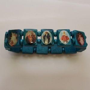 Jewelry - Wooden Catholic Bracelet (stretchy)